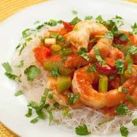 Hot and Sour Shrimp with Noodles