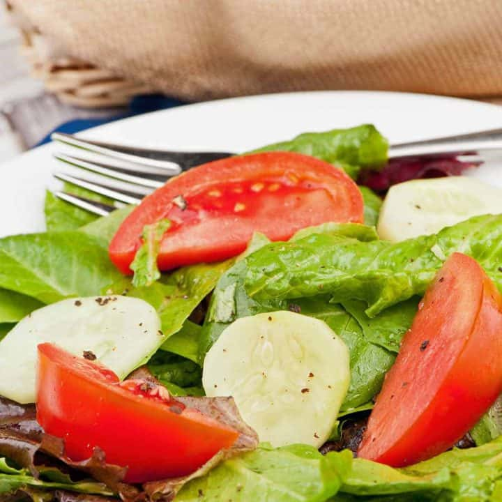 Italian Salad With Basil Vinaigrette