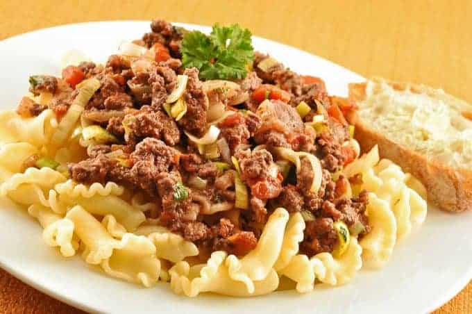 Lamb Ragu Over Campanelle