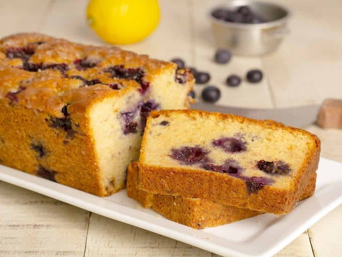 Lemon Blueberry Loaf Cake Recipe