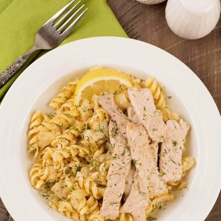 Lemon Dill Pasta Bowl with Pork