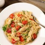Lemon Garlic Spaghetti with Chicken