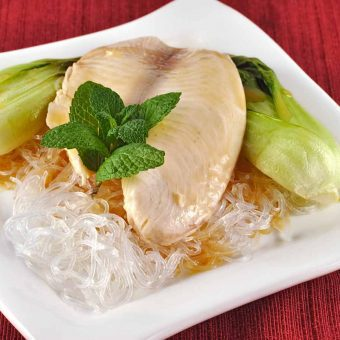 Lemongrass Poached Tilapia with Baby Bok Choy