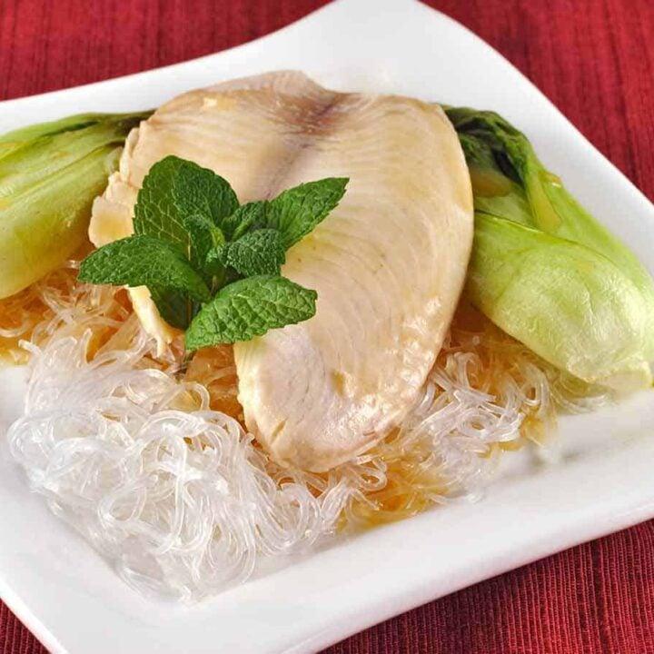 Lemongrass Poached Tilapia with Baby Bok Choy