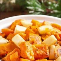 Lemony Sweet Potatoes w/Apples and Sage