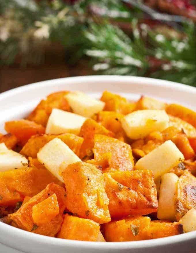 Lemony Sweet Potatoes with Apples and Sage
