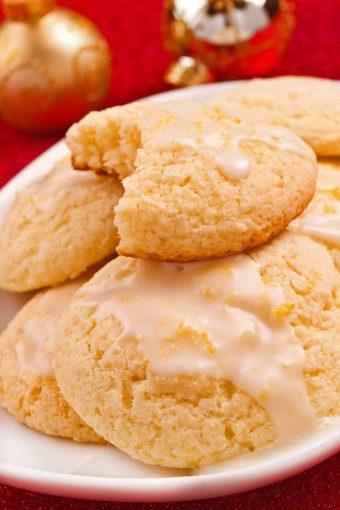 Limoncello Glazed Ricotta Cookies