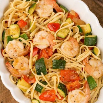 Linguine with Shrimp and Zucchini
