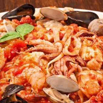 Linguine with Seafood (Linguine ai Frutti di Mare)