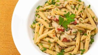 Lobster Penne with Truffle Oil