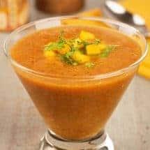 Mango-Kaffir Gazpacho