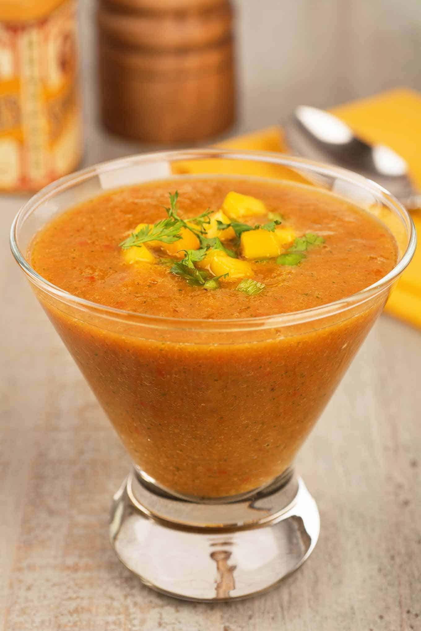 Mango Gazpacho Soup
