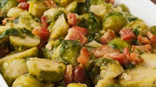 Maple-Glazed Brussels Sprouts with Bacon