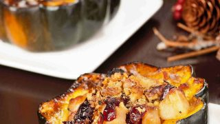 Maple Roasted Acorn Squash w/Winter Fruit Compote