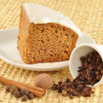 Maple-Sour Cream Gingerbread Cake