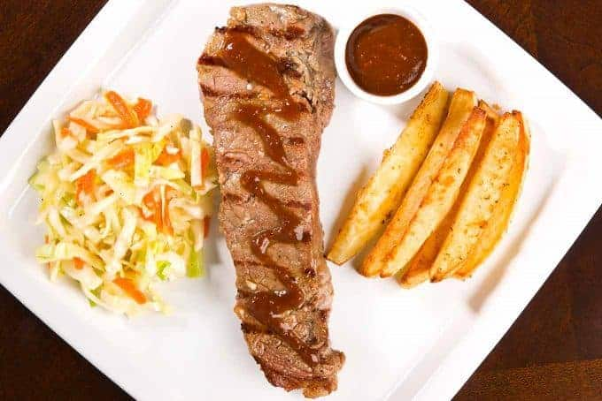 Marinated Strip Steaks with D.I.Y. Steak Sauce