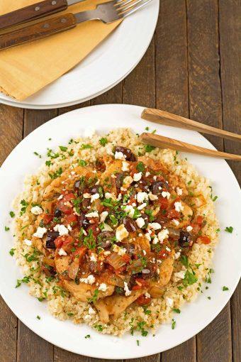 Mediterranean Chicken and Cauliflower Rice