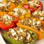 Mediterranean Lamb Stuffed Peppers