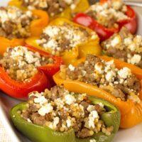 Mediterranean Lamb Stuffed Peppers