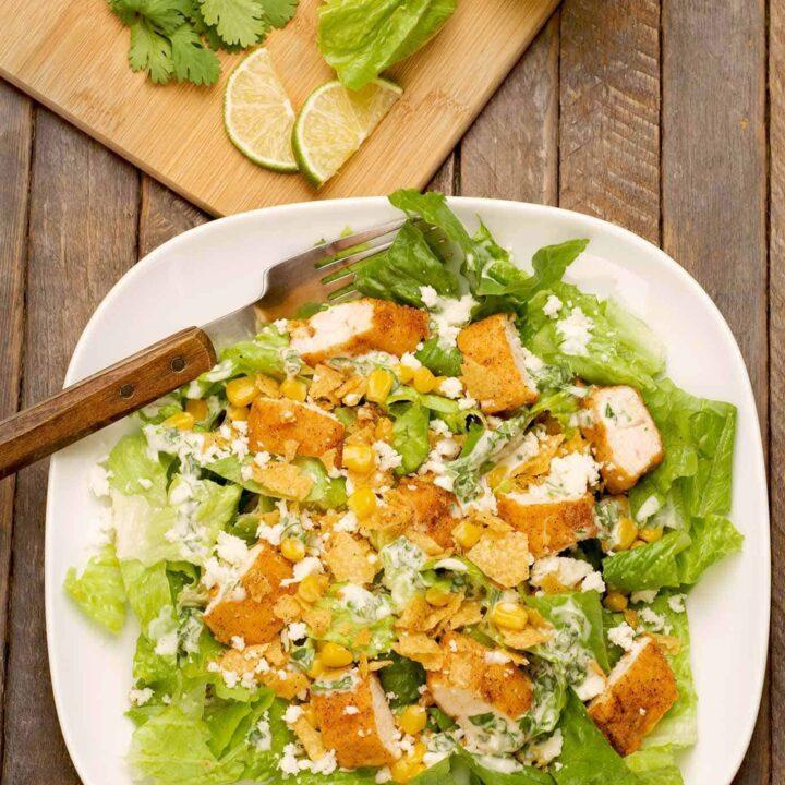 Mexican Chicken Caesar Salad
