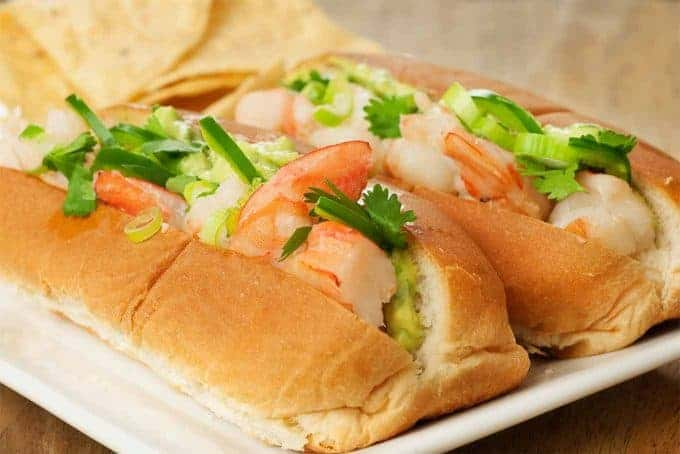 Mexican Shrimp Roll w/Avocado Mayo