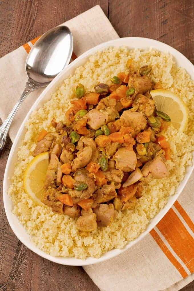 Middle Eastern Spiced Chicken with Apricots