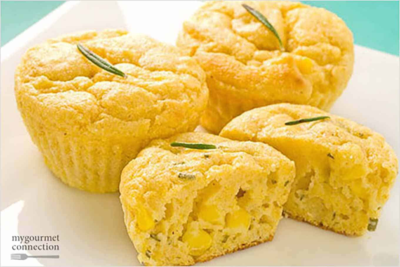 Mini Rosemary Corn Muffins
