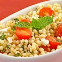 Minted Couscous Salad with Tomatoes and Feta