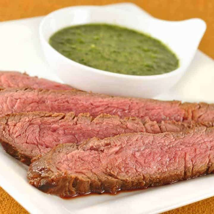 Mirin-Marinated Steak with Asian Chimichurri