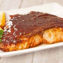 Molasses-Marmalade Glazed Salmon