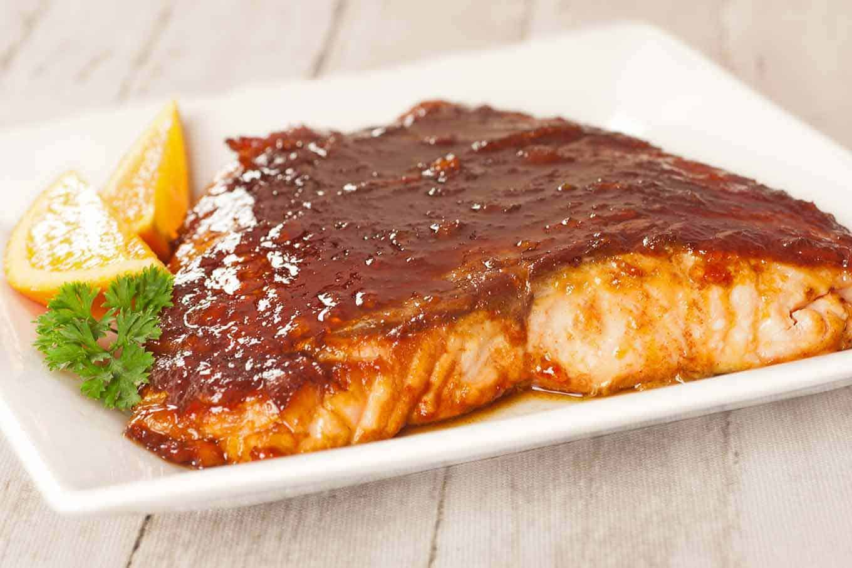 Molasses-Marmalade Glazed Salmon