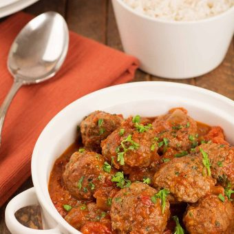 Moroccan Lamb Meatballs in Tomato Sauce