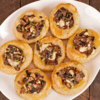 Mushroom and Goat Cheese Pastry Bites