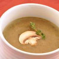 Mushroom Soup with Sherry and Thyme