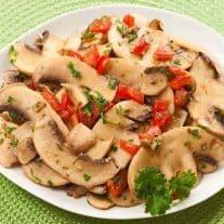 Mushroom and Tomato Salad