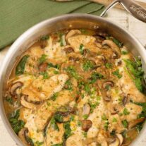 One-Pan Smothered Chicken and Mushrooms