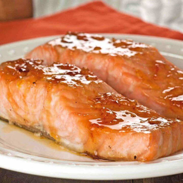 Orange and Bourbon Glazed Salmon