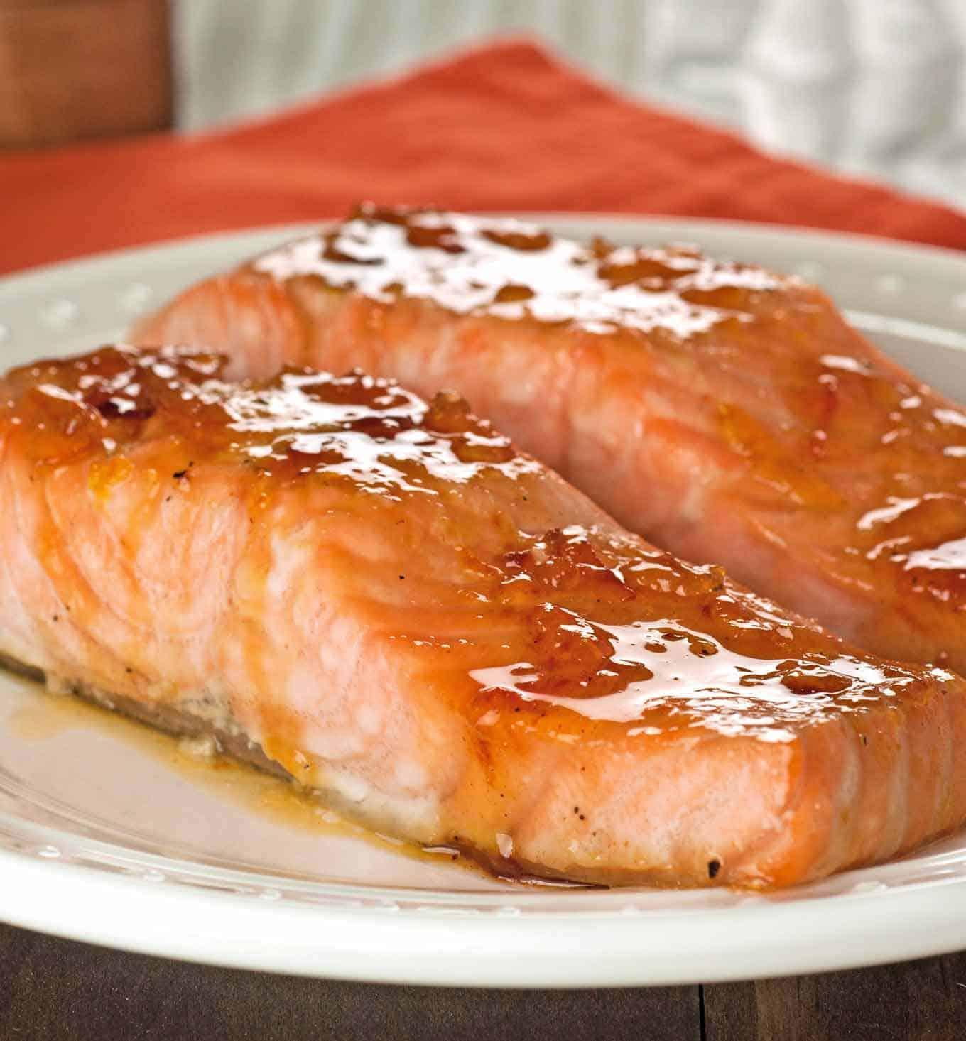 Orange And Bourbon Glazed Salmon Recipe