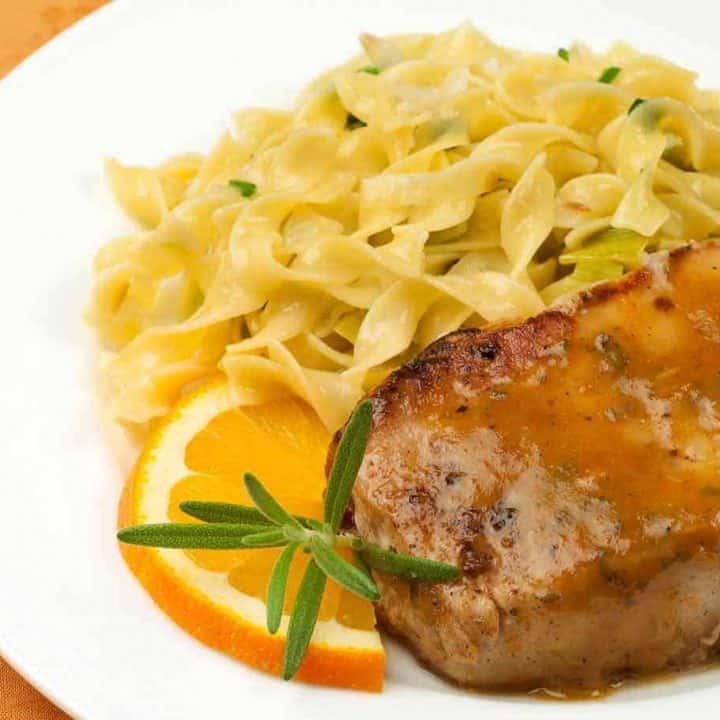 Orange And Rosemary Sauced Pork