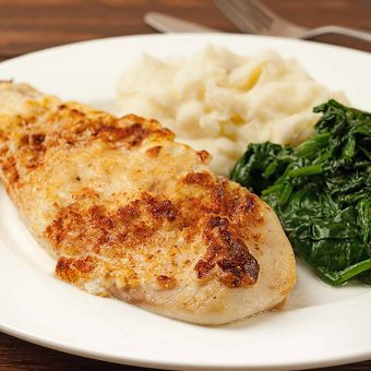 Oven-Baked Fish with Caesar Topping