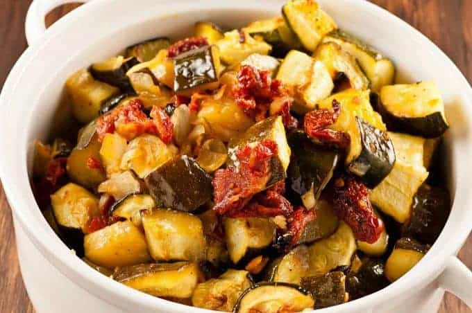Oven-Braised Zucchini in Olive Oil