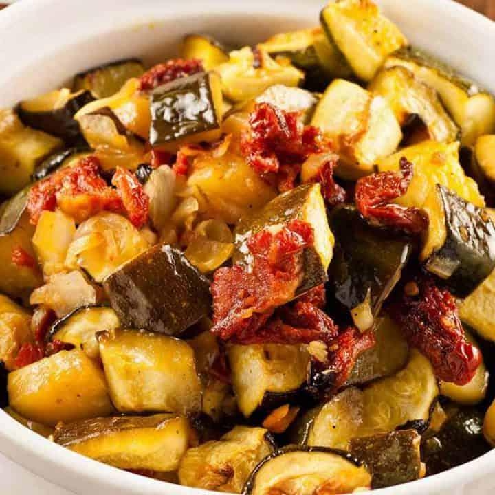 Oven-Braised Zucchini in Olive Oil