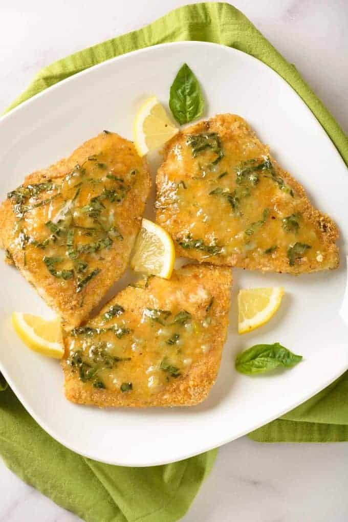 Oven-Fried Fish with Lemon-Basil Butter