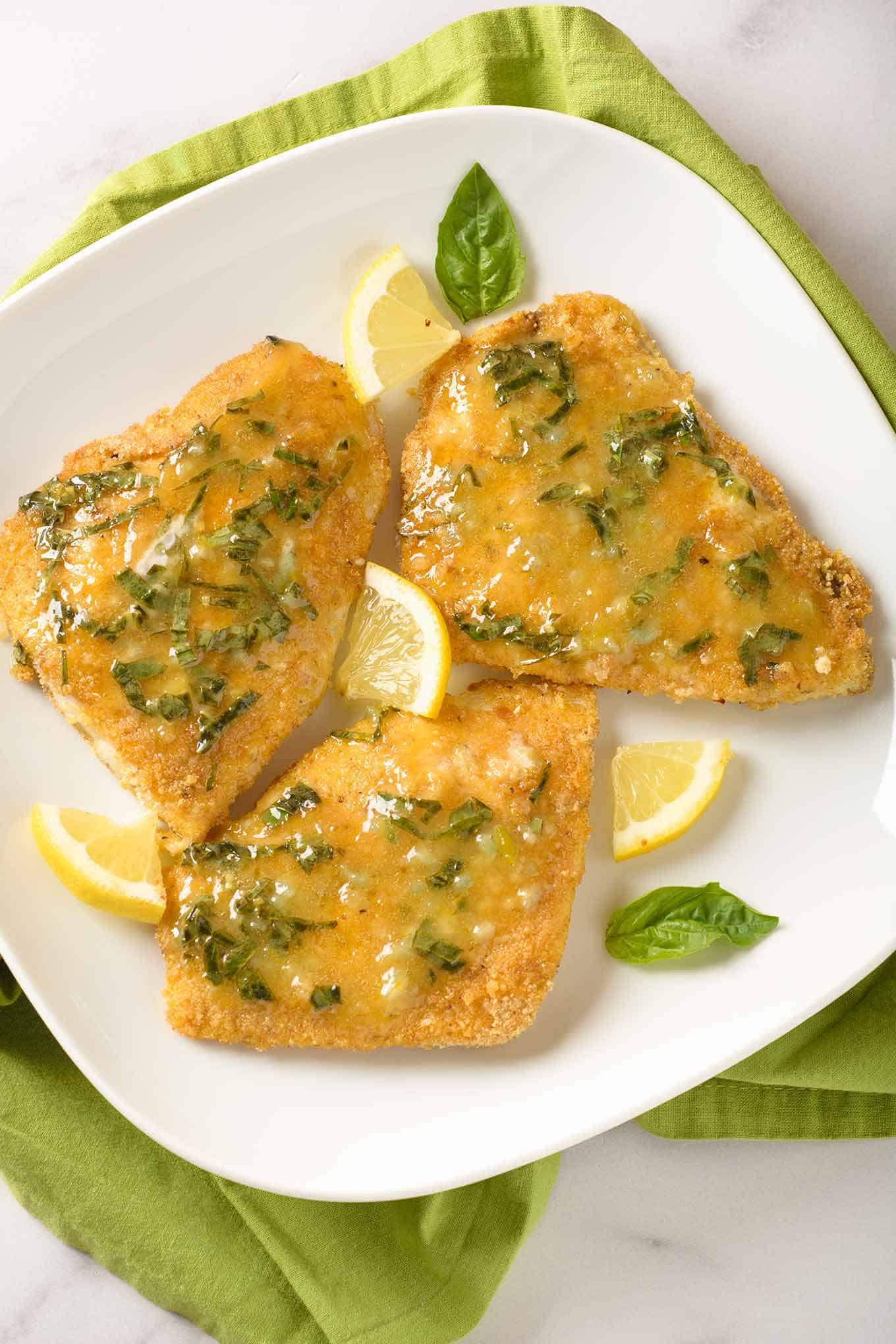 Oven Fried Fish With Lemon Basil Butter Recipe