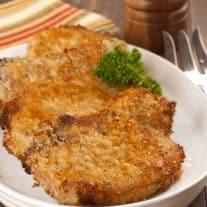 Oven-Fried Parmesan Pork Chops