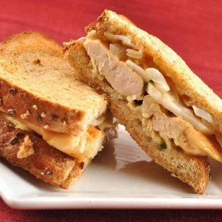 Oven Grilled Chicken, Camembert and Apple Sandwiches