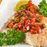 Oven-Roasted Snapper with Tomato and Caper Salsa