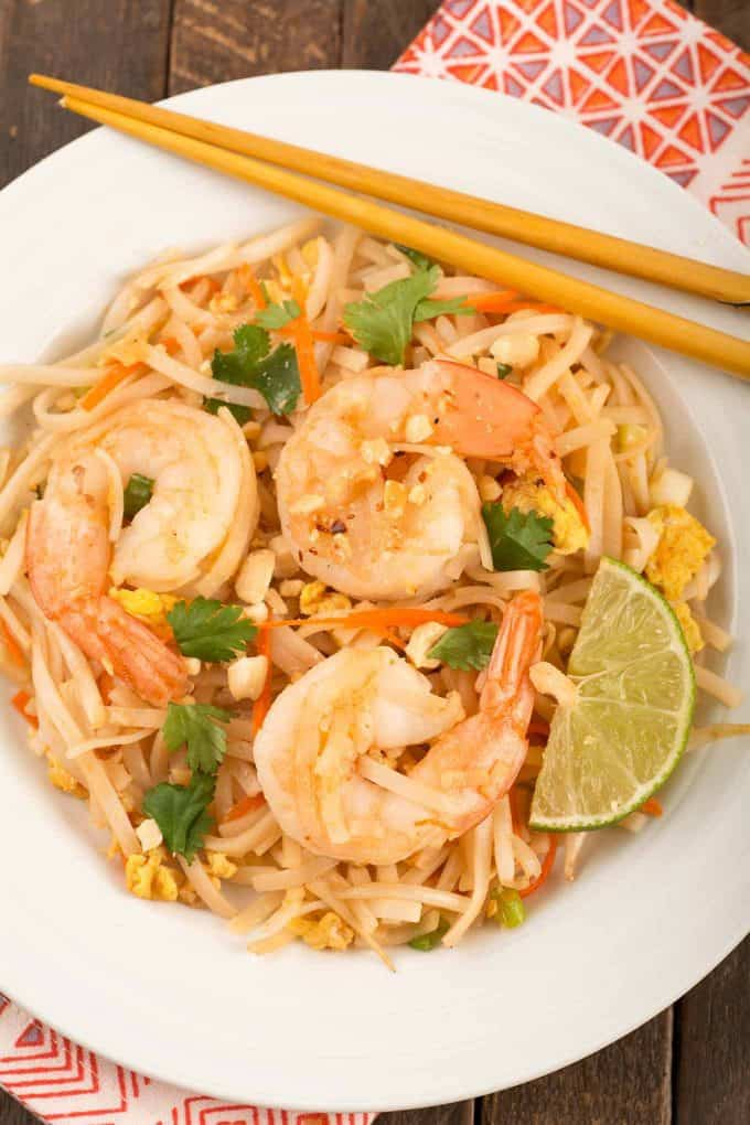 Easy Pad Thai with Shrimp