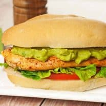 Pan-Seared Chicken Sandwich with Avocado Mayo
