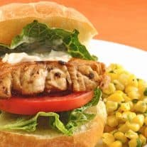 Pan-Seared Grouper Sandwiches with Mojo Mayo